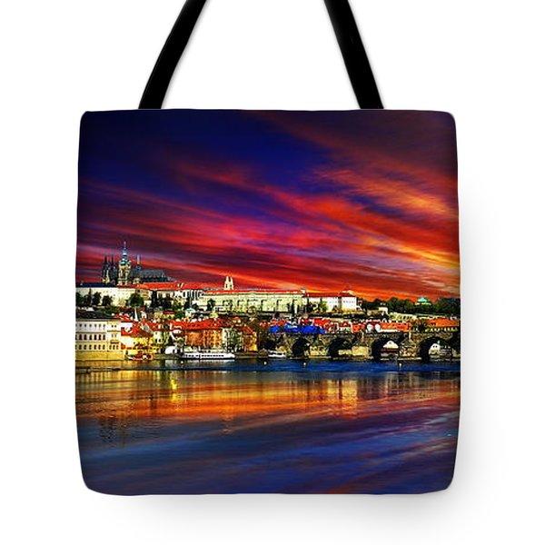 Pragues Historic Charles Bridge Tote Bag