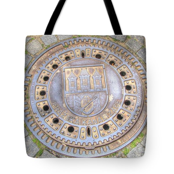 Praha Kanalizacia Element  Big City Tote Bag by Yury Bashkin