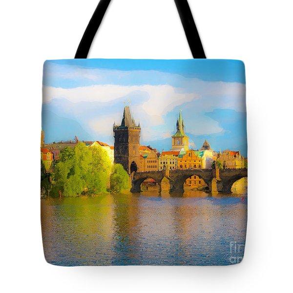 Praha - Prague - Illusions Tote Bag