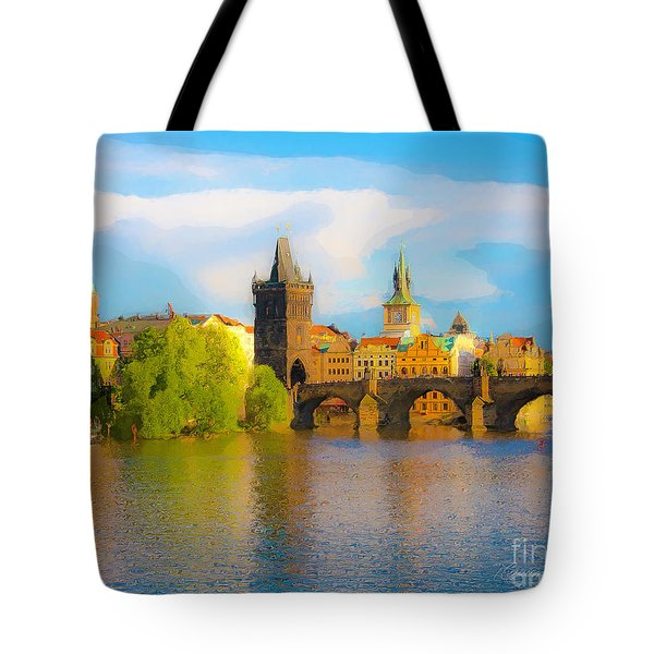 Praha - Prague - Illusions Tote Bag by Tom Cameron