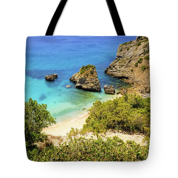 Praia Da Ribeira Do Cavalo In Sesimbra, Portugal Tote Bag
