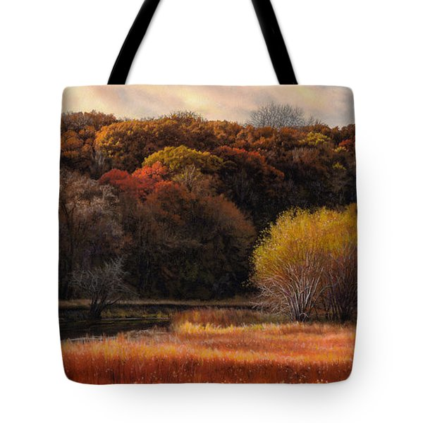 Prairie Autumn Stream Tote Bag