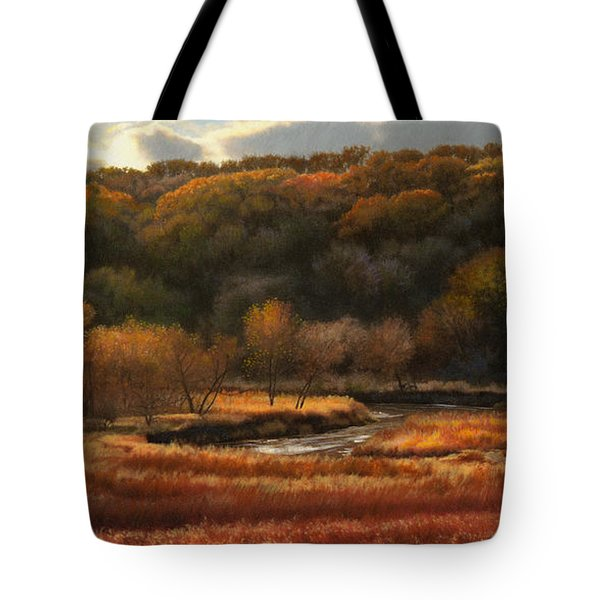 Prairie Autumn Stream No.2 Tote Bag