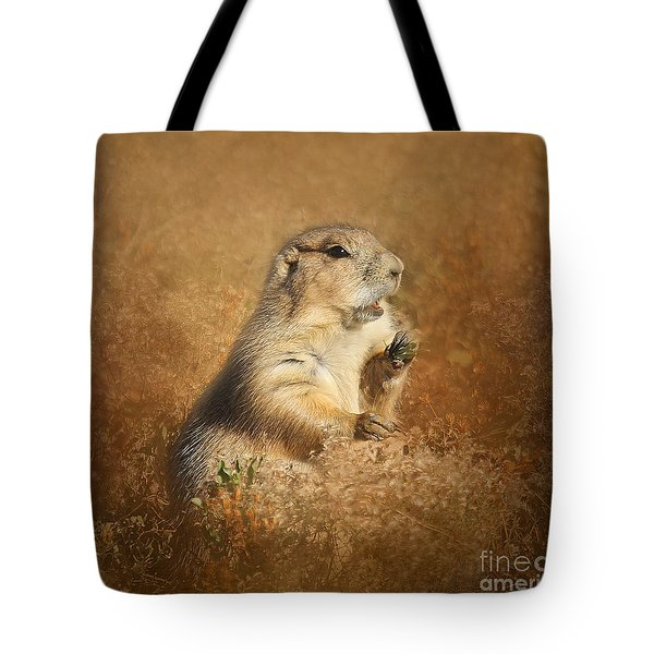 Prairie Dog Conversation Tote Bag by Clare VanderVeen