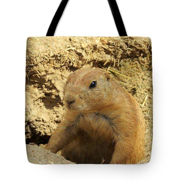 Prairie Dog Peek Tote Bag