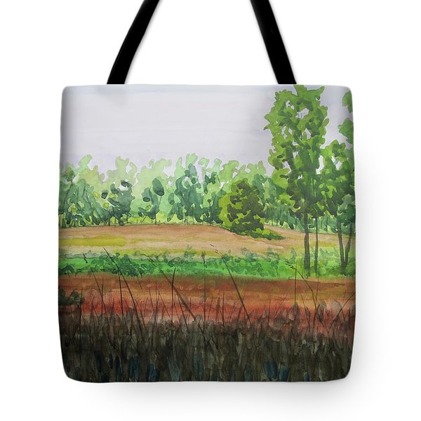 Prairie Grass Field Tote Bag by Bethany Lee