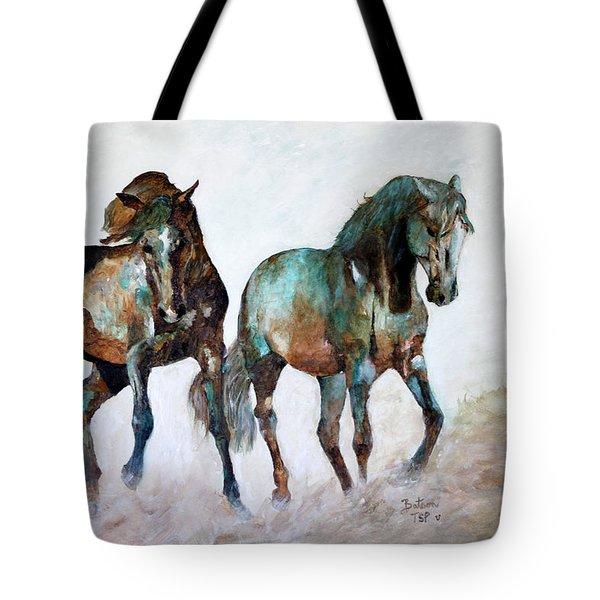 Prairie Horse Dance Tote Bag