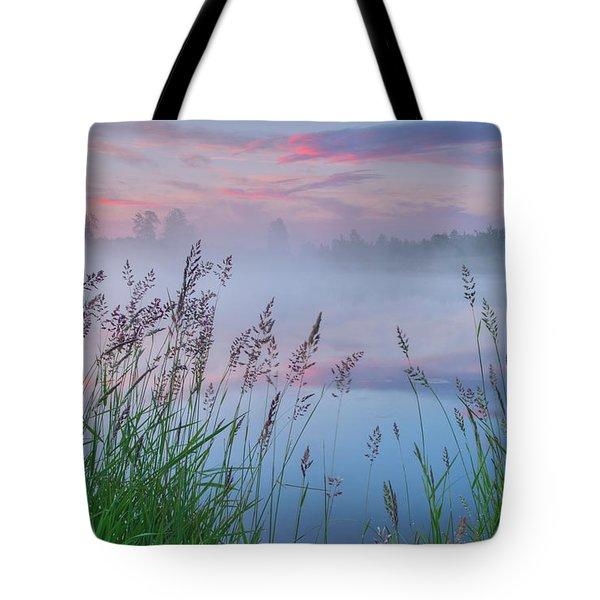 Tote Bag featuring the photograph Prairie Pond Before Sunrise by Dan Jurak