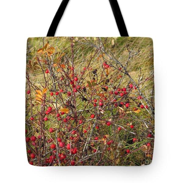 Prairie Rosehips Tote Bag
