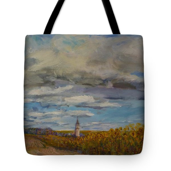 Prairie Town Tote Bag by Helen Campbell