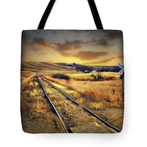 Prairie Tracks Tote Bag
