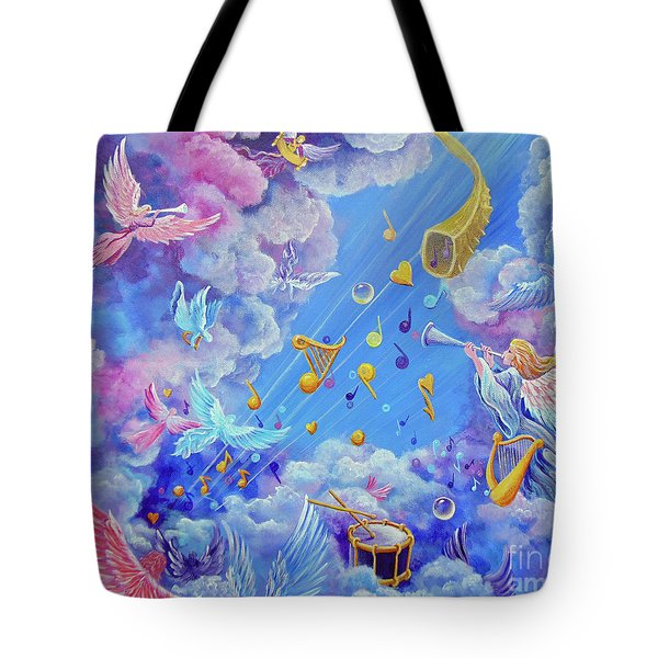 Praise Him From The Heavens Tote Bag