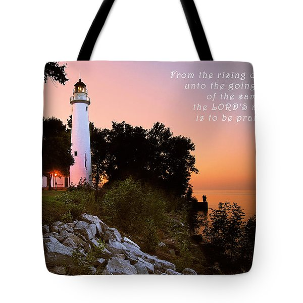 Praise His Name Psalm 113 Tote Bag
