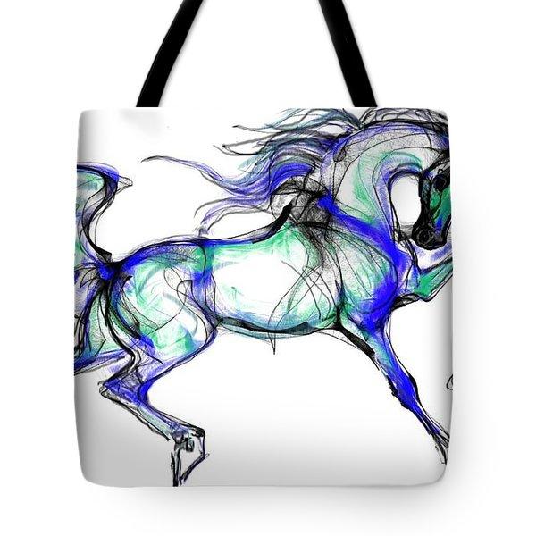 Prancing Arabian Horse Tote Bag