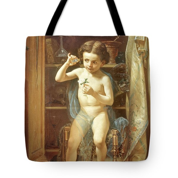 Tote Bag featuring the painting Pranks Of Love by Manuel Ocaranza