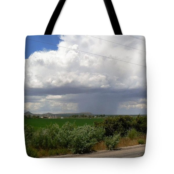 Tote Bag featuring the photograph Prarie Rain Cloud by Deborah Moen