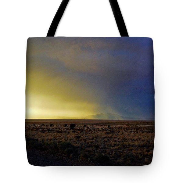 Tote Bag featuring the photograph Prarie Rain Lund Utah by Deborah Moen
