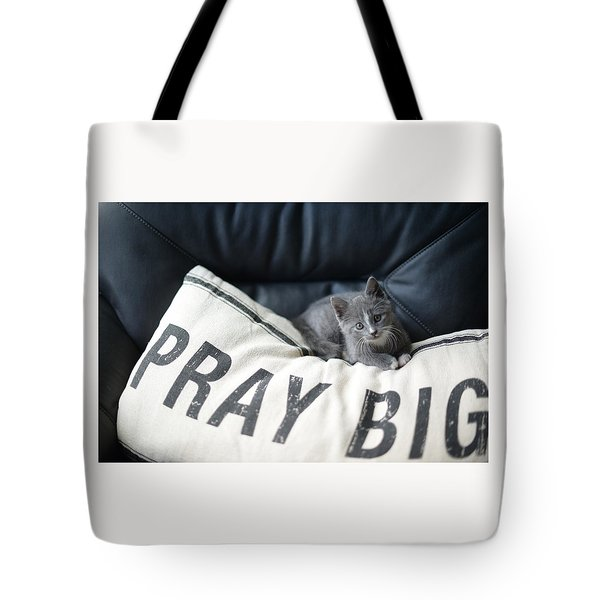 Tote Bag featuring the photograph Pray Big by Linda Mishler