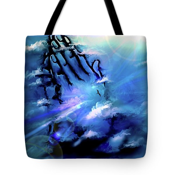 Tote Bag featuring the digital art Pray by Darren Cannell