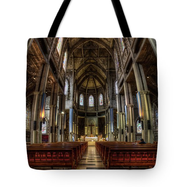 Our Lady Of Nahuel Huapi Cathedral In The Argentine Patagonia Tote Bag