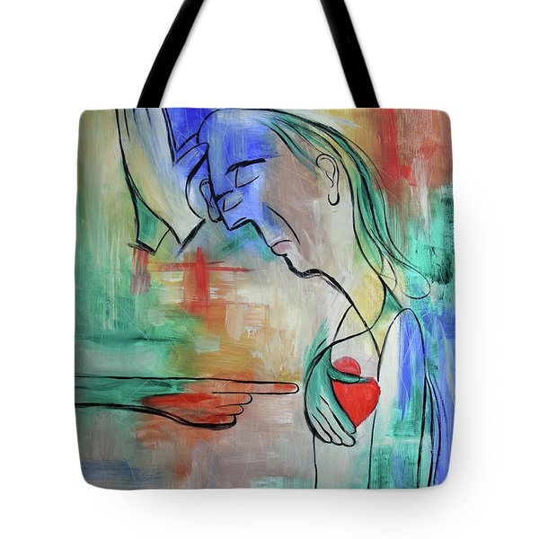 Pray For Me From The Heart Tote Bag