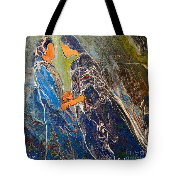 Tote Bag featuring the painting Pray For One Another by Deborah Nell