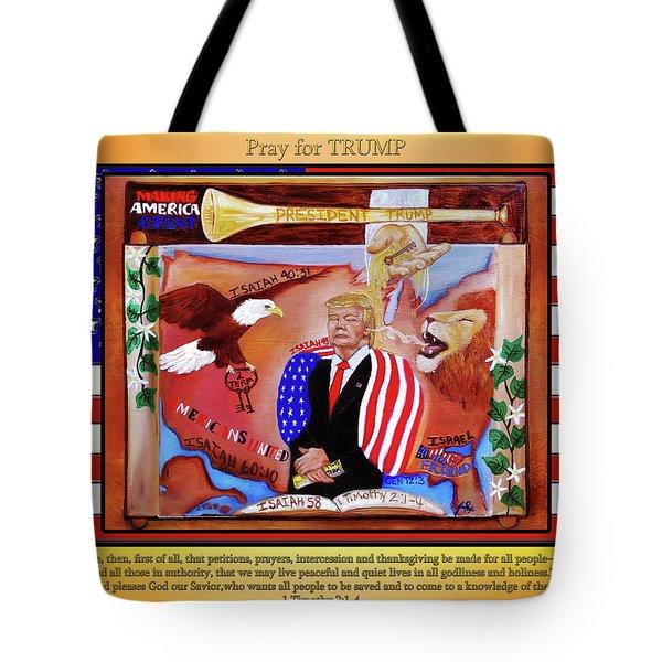 Pray For President Trump Tote Bag