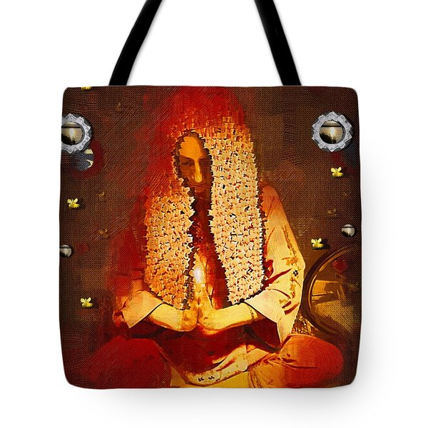 Pray For The Earth Tote Bag by Pepita Selles