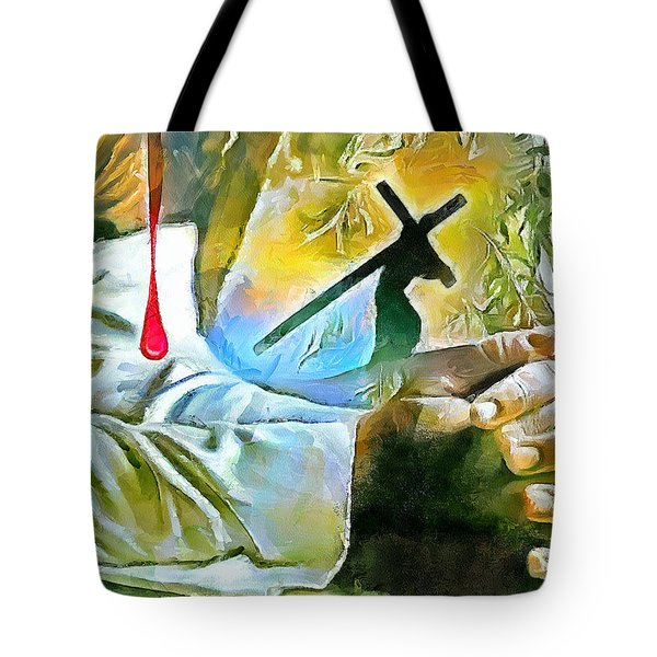 Prayer And The Blood Tote Bag