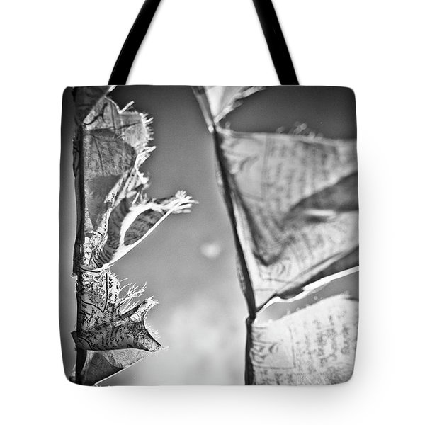 Prayer Flags High In The Himalayas Tote Bag