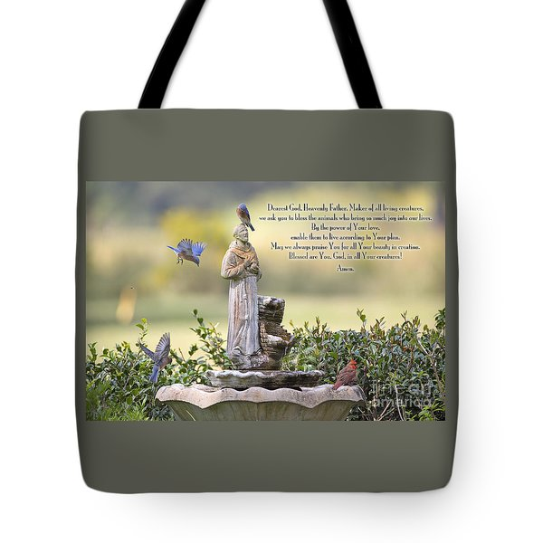 Prayer For The Animals That Bless Our Lives Tote Bag
