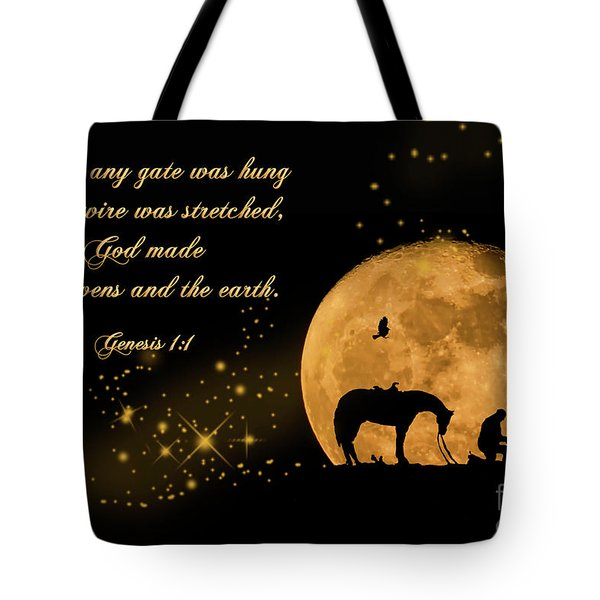 Tote Bag featuring the photograph Prayer Of A Cowboy by Bonnie Barry