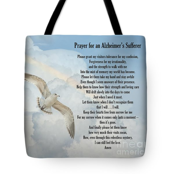 Prayer For An Alzheimer's Sufferer Tote Bag