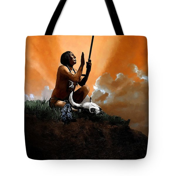 Prayer To The Great Mystery Tote Bag