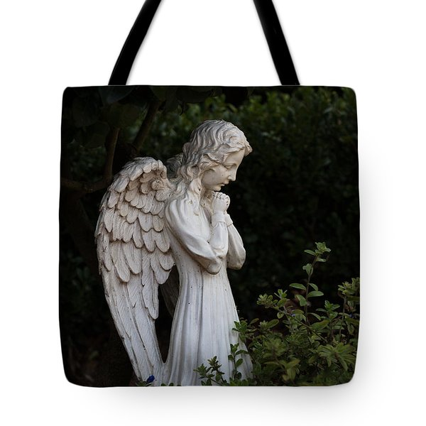 Praying Angel With Verse Tote Bag