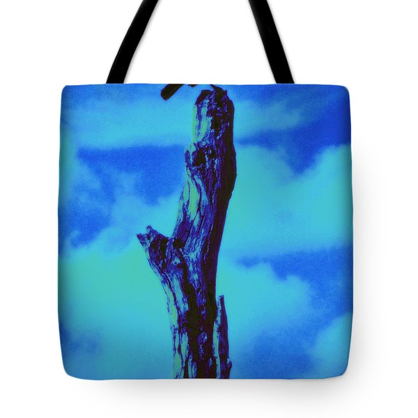 Praying Black Bird Grace In Nature Tote Bag
