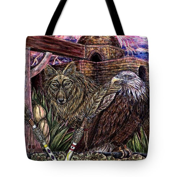 Praying Tote Bag