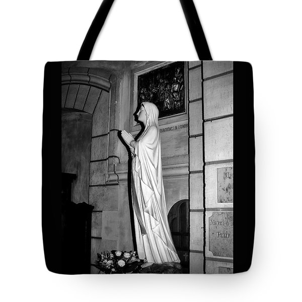 Tote Bag featuring the photograph Praying Nun 2 by Elf Evans