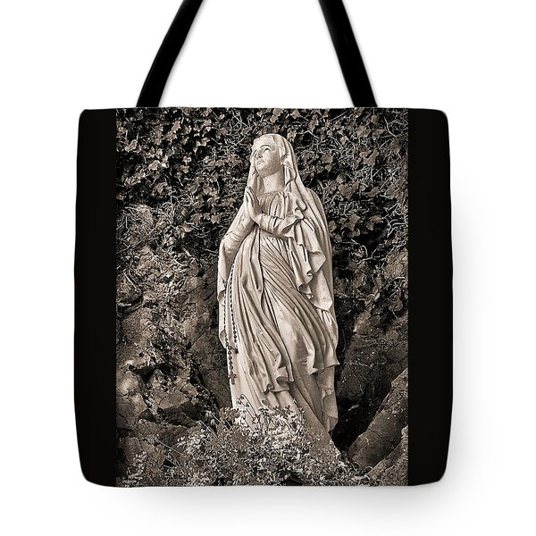 Tote Bag featuring the photograph Praying Nun by Elf Evans