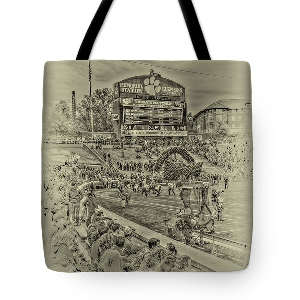Clemson Tigers Pre Game Tote Bag