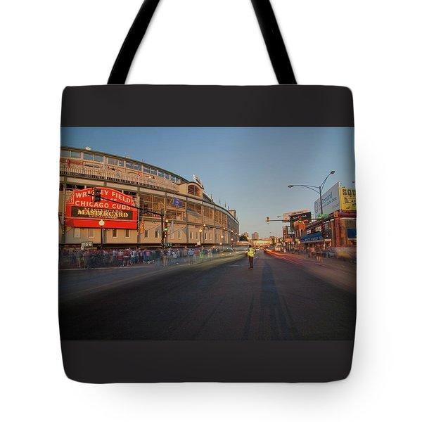 Pre-game Cubs Traffic Tote Bag by Sven Brogren