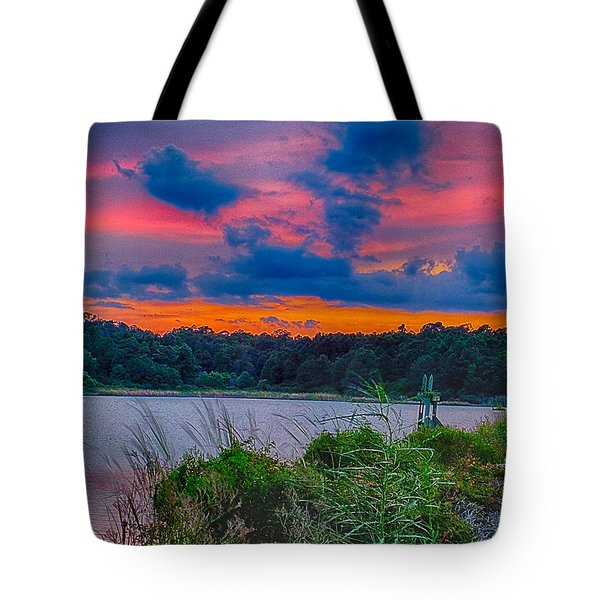 Tote Bag featuring the photograph Pre-sunset At Hbsp by Bill Barber