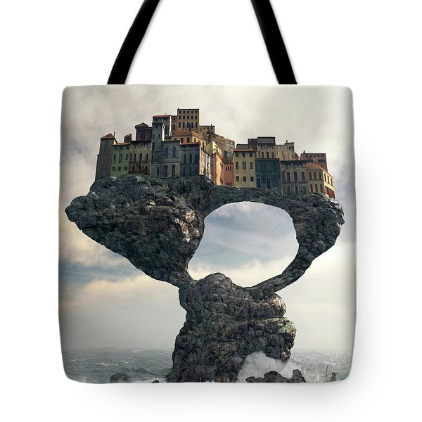 Precarious Tote Bag