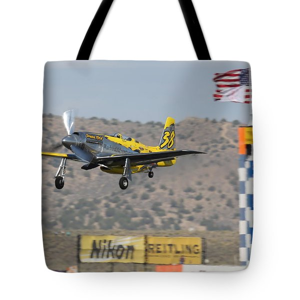 Tote Bag featuring the photograph Precious Metal At Reno Air Races 2014 by John King