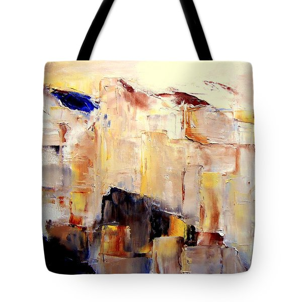 Precipice 1 Austrian Alps Imagined-dedicated  Tote Bag