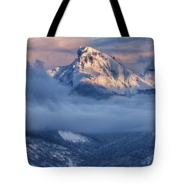 Precipice Smiling Tote Bag
