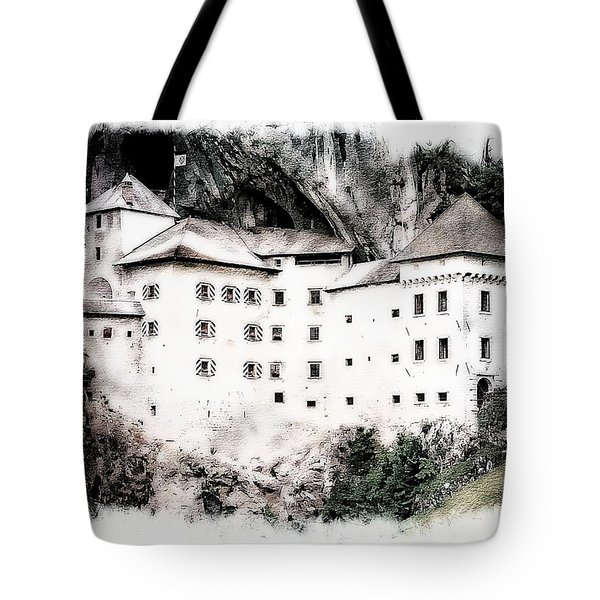 Predjama Castle Tote Bag by Joseph Hendrix