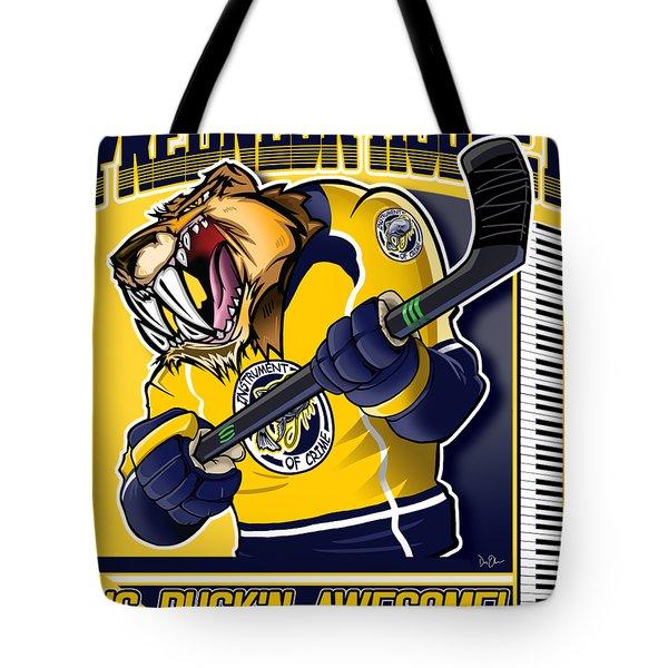 Predneck Hockey Tote Bag