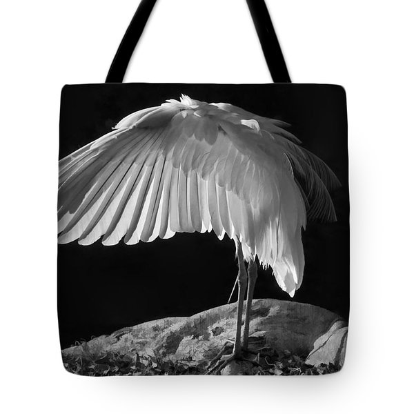 Preening Great Egret By H H Photography Of Florida Tote Bag