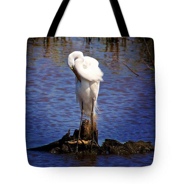 Preening Tote Bag